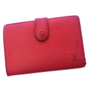 Louis Vuitton Wallet Purse Coin purse Epi Red Woman Authentic Used